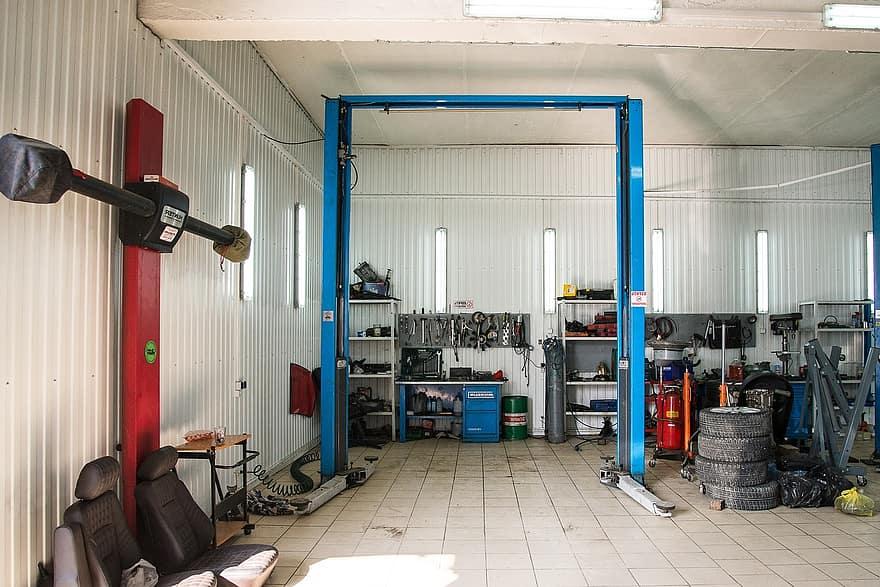 Jaarlijks onderhoud camper in garage
