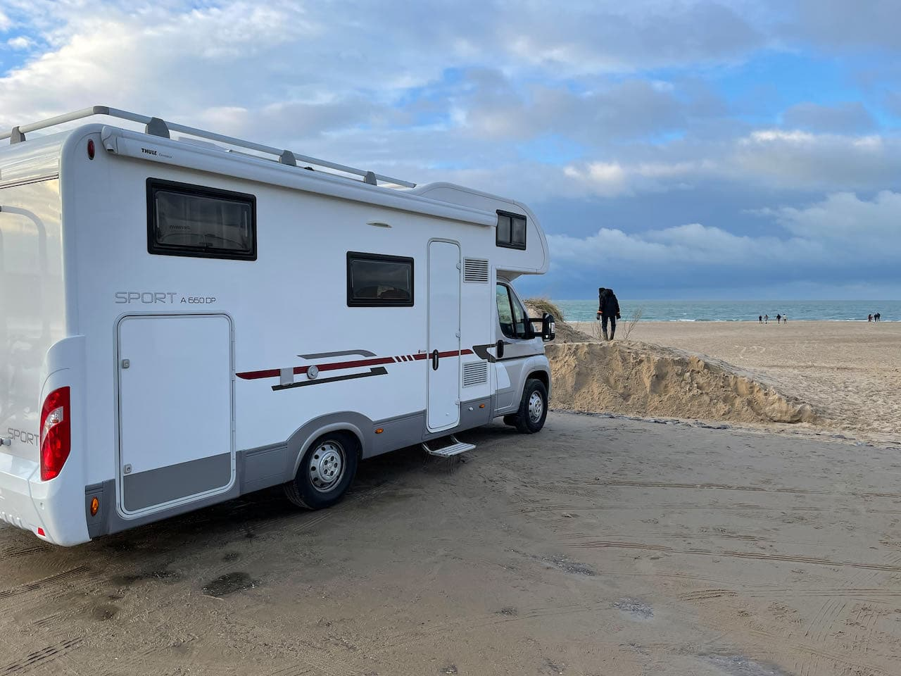 Strand is vlakbij Camping